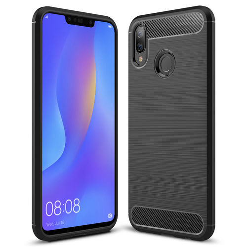 Flexi Carbon Fibre Tough Case for Huawei Nova 3i - Brushed Black